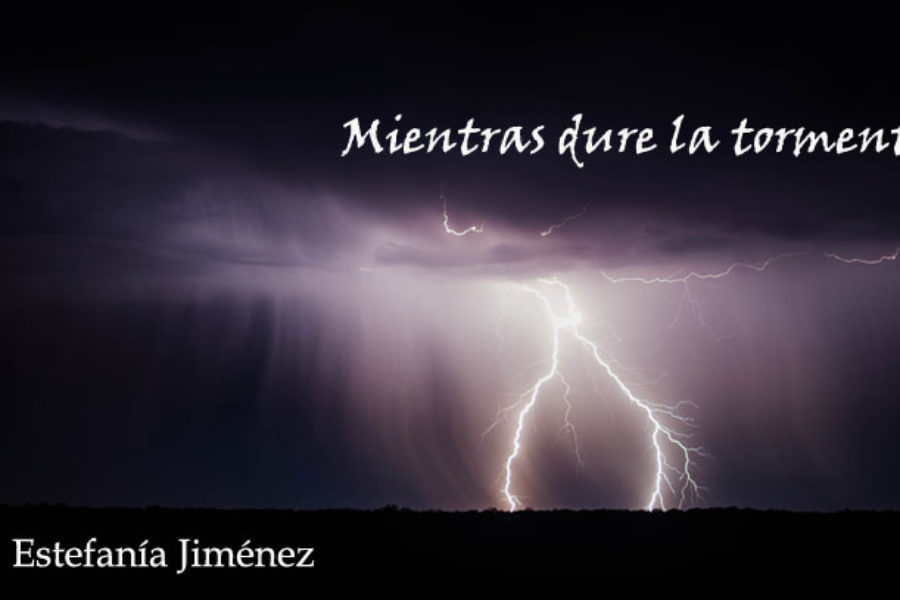 Mientras dure la tormenta. Estefanía Jiménez